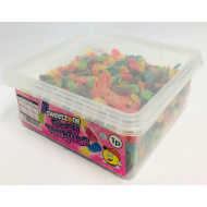 Sweetzone Fizzy Tongues Assorted Flavours Hmc Halal Tubs (600 Pieces)